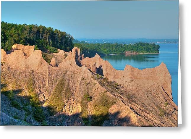 Chimney Bluffs 1750 Greeting Card