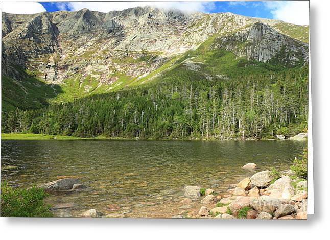 Chimney Pond Baxter State Park Greeting Card by Elizabeth Dow
