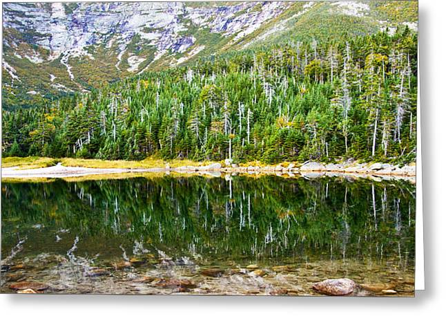 Chimney Pond Reflections 2 Greeting Card by Glenn Gordon