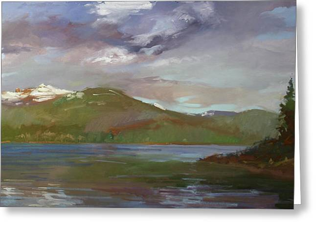 Chimney Rock  At Priest Lake  Plein Air Greeting Card