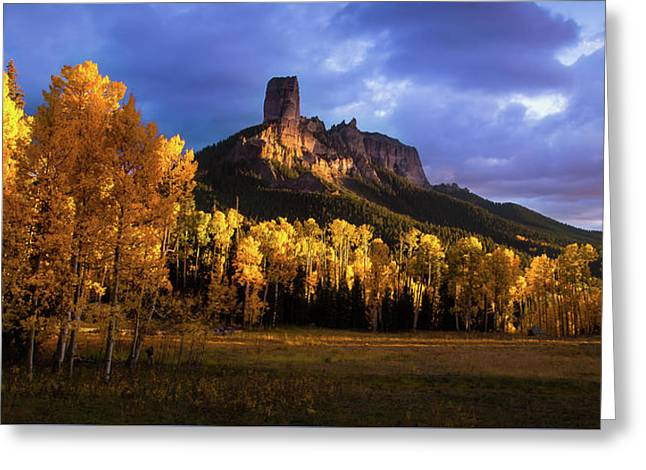 Chimney Rock Colorado Greeting Card