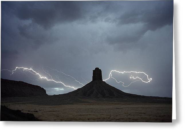 Chimney Rock Is Also Called Jackson Greeting Card by James L. Amos