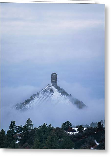 Greeting Card featuring the photograph Chimney Rock Rising by Jason Coward