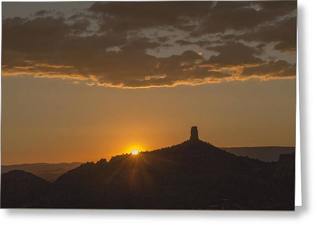 Chimney Rock Sunset Greeting Card