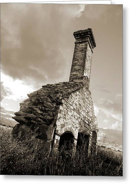 Chimney Ruins Greeting Card