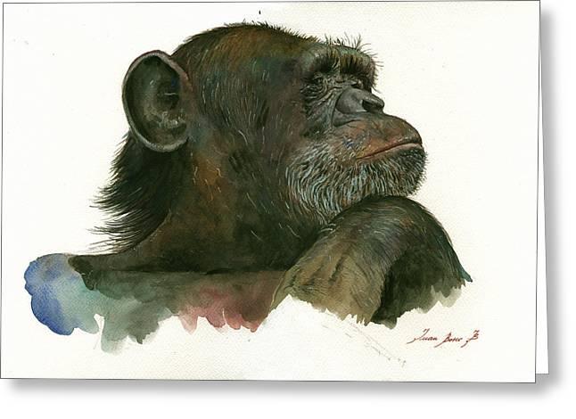 Chimp Portrait Greeting Card
