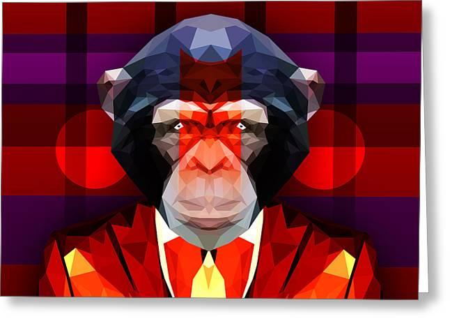 Chimpanzee 2 Greeting Card