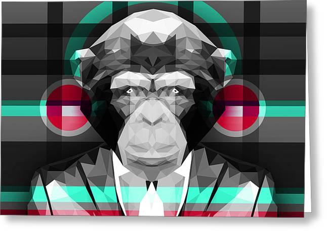 Chimpanzee 4 Greeting Card