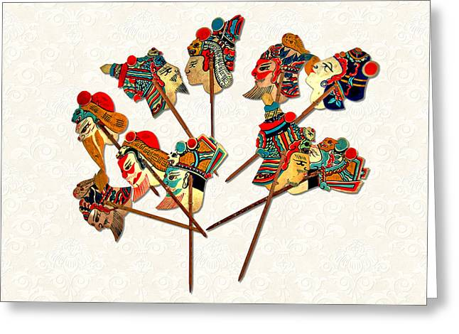 China - Land Of Many Faces Greeting Card by Christine Till