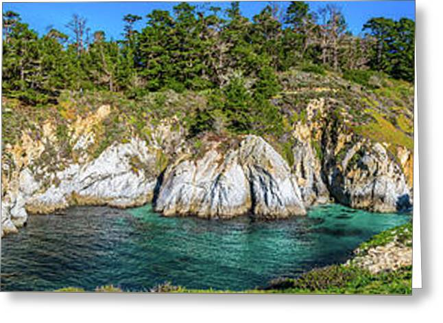 China Cove At Point Lobos Greeting Card by Javier Flores
