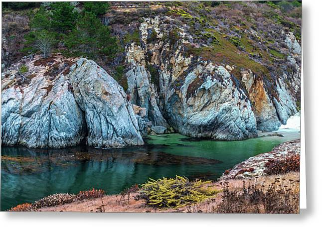 China Cove Panoramic Greeting Card by Javier Flores