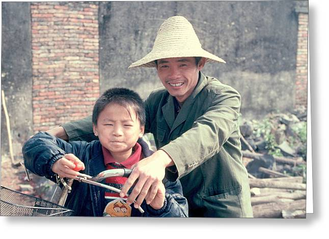 Greeting Card featuring the photograph China Family by Douglas Pike