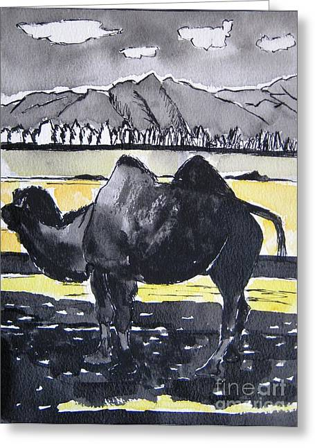 China Silk Road Greeting Card by Lesley Giles