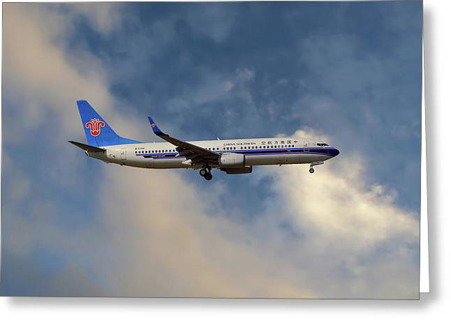 China Southern Airlines Boeing 737-81q Greeting Card