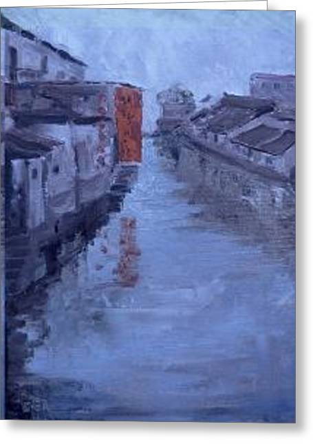China Tongli River Charm Greeting Card by Bryan Alexander