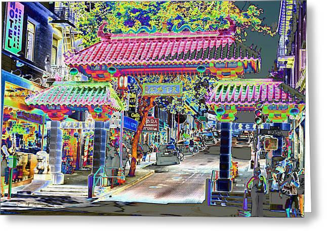 China Town  Entrance Greeting Card