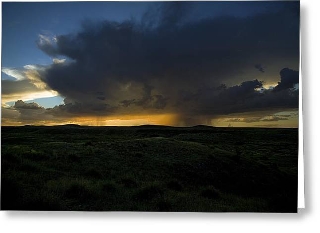 Chinati Storm Greeting Card by Clyde Replogle