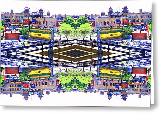Chinatown Chicago 3 Greeting Card by Marianne Dow
