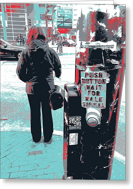 Chinatown Crosswalk Greeting Card