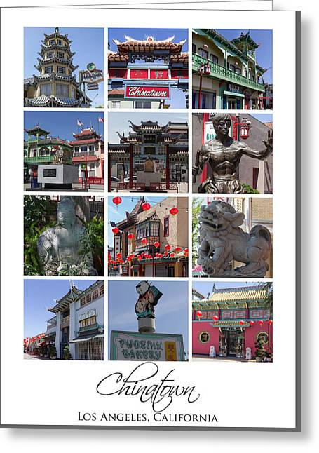Chinatown Los Angeles Greeting Card by Teresa Mucha