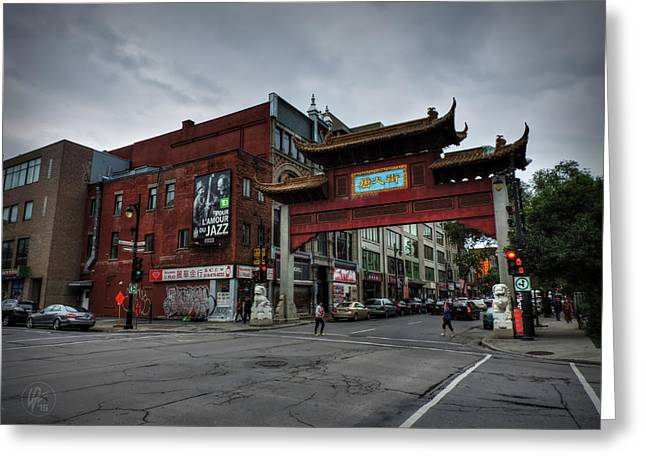 Chinatown Montreal 001 Greeting Card by Lance Vaughn