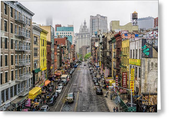 Chinatown Ny Greeting Card by June Marie Sobrito