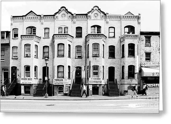 Chinatown Townhouse Row Greeting Card