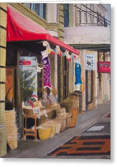 Chinatown Greeting Card by Victoria Heryet