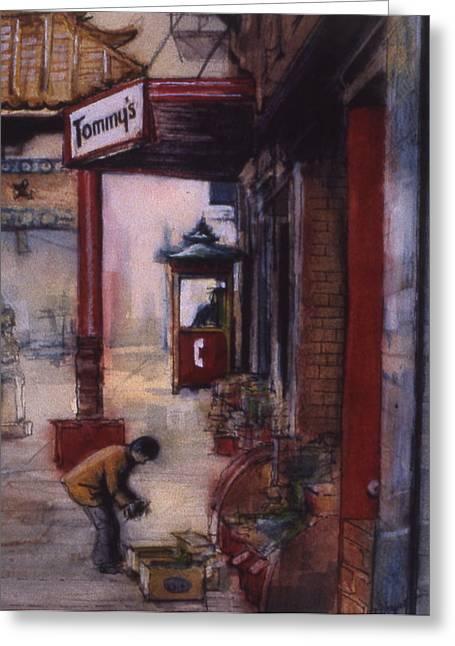 Chinatown Victoria Greeting Card by Victoria Heryet