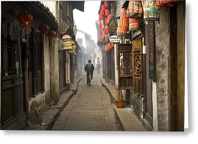 Chinese Alley Greeting Card