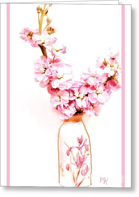 Greeting Card featuring the digital art Chinese Bouquet by Marsha Heiken