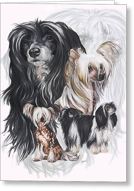 Chinese Crested And Powderpuff Medley Greeting Card