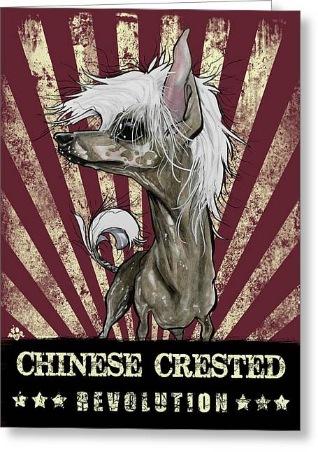 Chinese Crested Revolution Greeting Card