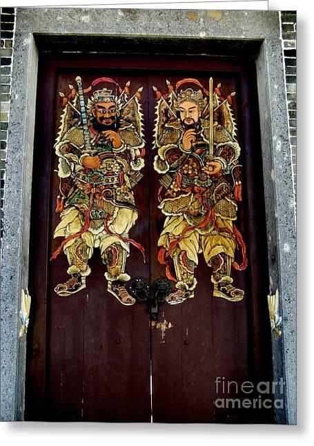 Chinese Door Gods Greeting Card