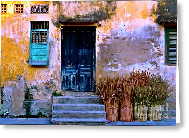 Chinese Facade Of Hoi An In Vietnam Greeting Card