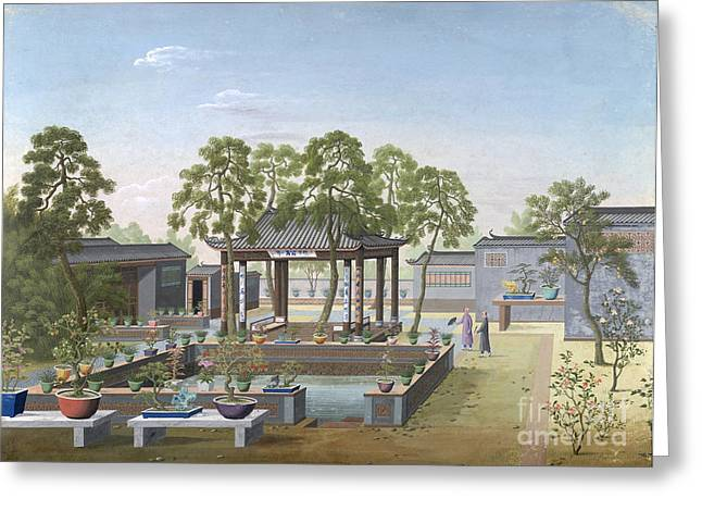 Chinese Garden, 1800 Greeting Card by British Library
