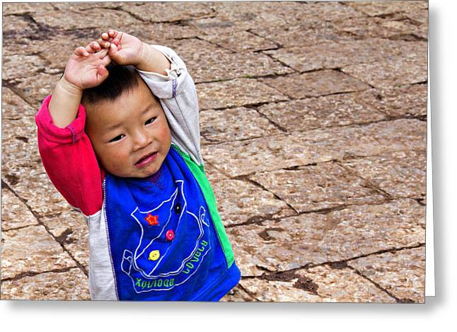 Chinese Boy Joy Greeting Card