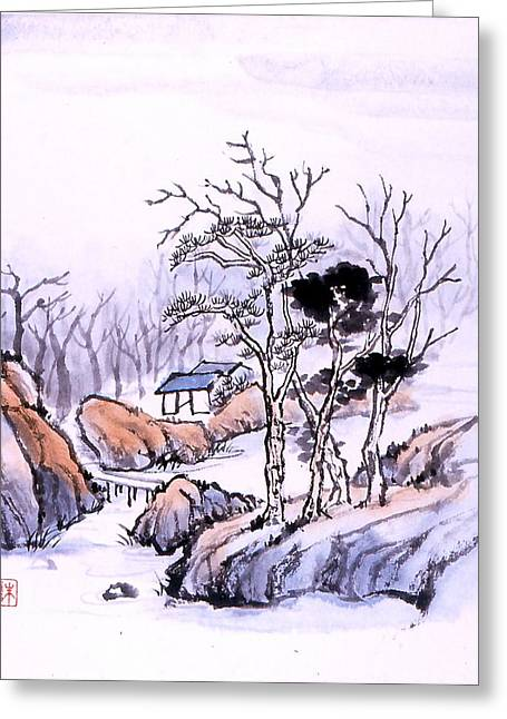 Chinese Landscape Greeting Card by Yolanda Koh