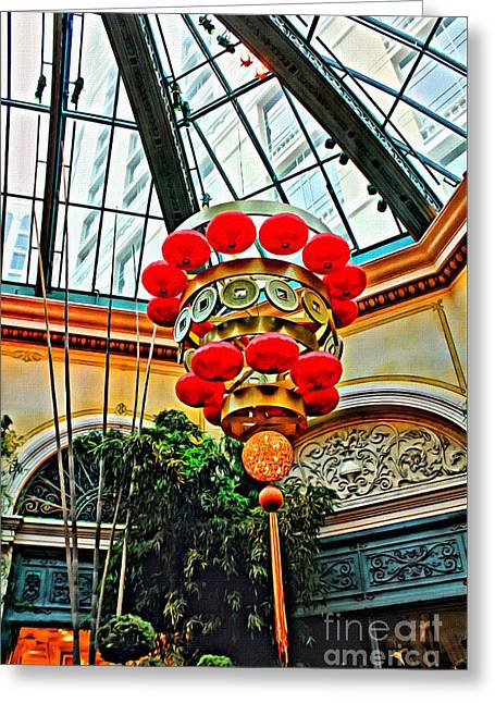 Greeting Card featuring the photograph Chinese Lantern by Beauty For God