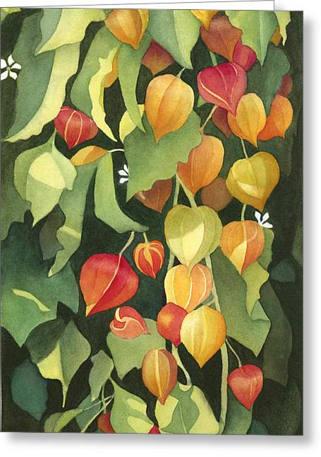 Chinese Lanterns Greeting Card by Anne Havard