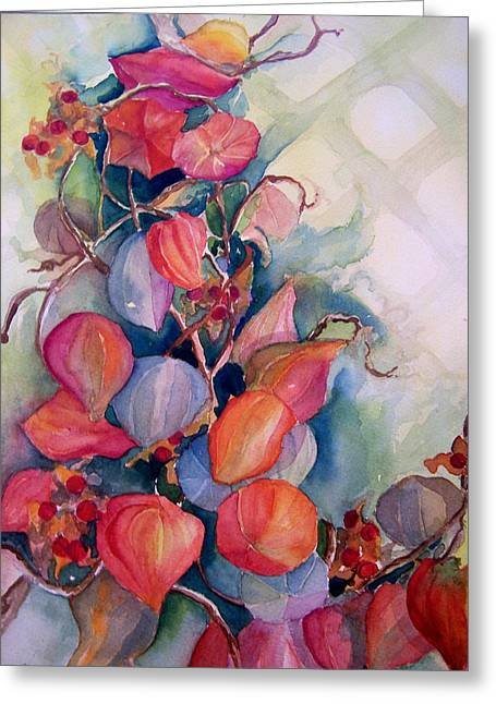 Chinese Lanterns Greeting Card by Sandy Collier