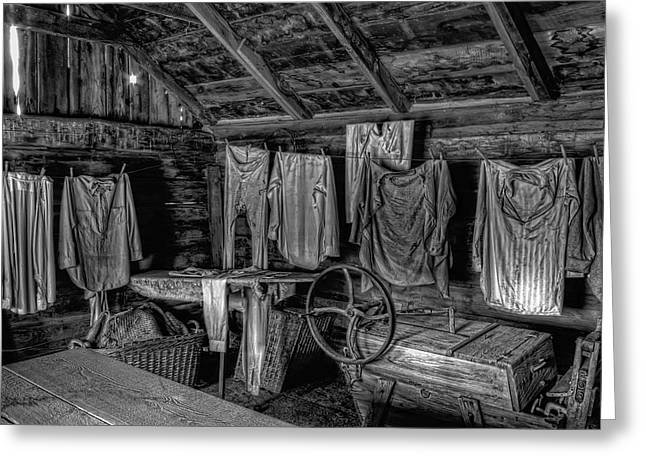 Chinese Laundry In Montana Territory Greeting Card by Daniel Hagerman