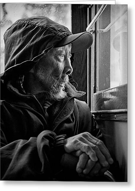 Chinese Man Greeting Card by Dave Bowman