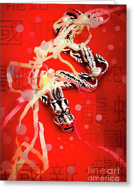 Chinese New Year Background Greeting Card by Jorgo Photography - Wall Art Gallery
