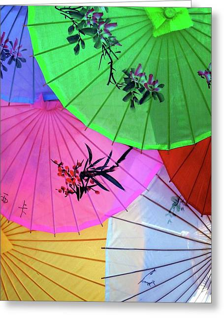 Chinese Parasols Greeting Card