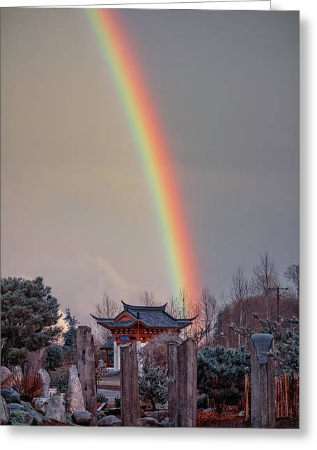 Chinese Reconciliation Park Rainbow Greeting Card