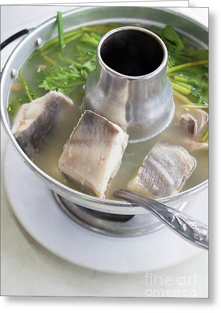 Chinese Silver Pomfret Soup Greeting Card