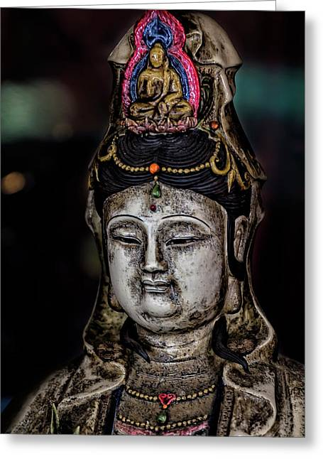 Chinese Statuette  Greeting Card by Robert Ullmann
