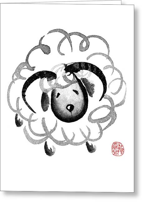 Chinese Zodiac For Year Of The Goat Greeting Card