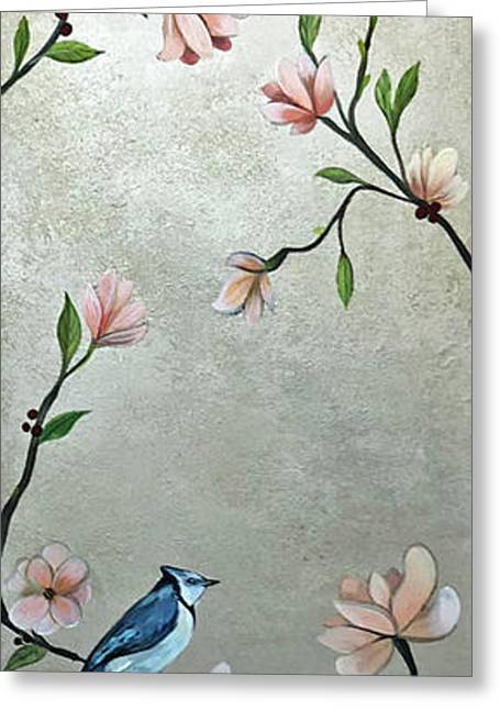 Chinoiserie - Magnolias And Birds Greeting Card